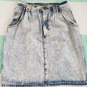 Jean skirt knee length